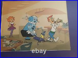 Double Signed Hanna-Barbera Ltd (149/300) Cel Jetsons Rosie Cleans Up