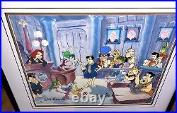 Flintstones cel hanna barbera signed gazoo stoney curtis a day in court cell