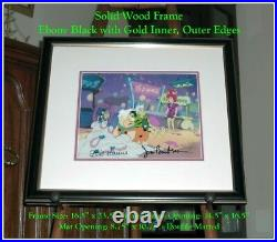 Framed, Hanna, Barbera SIGNED Hand-Painted PRODUCTION Animation Cel withCOA Seal