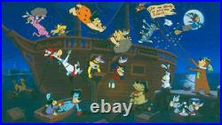 Hanna Barbera-Boston Tea Party Limited Edition Cel Signed By Hanna and Barbera