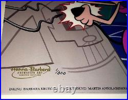 Hanna Barbera Cel Dexter's Laboratory Rare Number 1 Edition Cell Signed Genndy