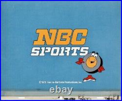 Hanna Barbera Cel Peter Puck NBC Sports Production Cell Title Card 1975 NHL Rare