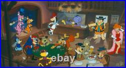 Hanna Barbera-Cutting the Deck Limited Edition Cel Signed By Hanna and Barbera