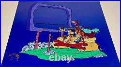 Hanna Barbera Sericel Cel Flintstones At The Drive In Animation Edition Cell