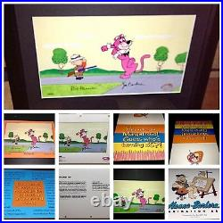 Hanna Barbera Signed Snagglepuss Cel Exit Stage Left Rare Animation Art Cell