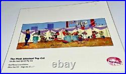 Hanna Barbera The Most Effectual Top Cat Laminated Cel Promo Binder Page Rare