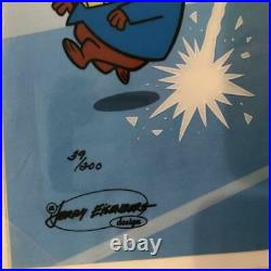 Hanna Barbera-Yellow Pinkie LE Cel Signed By Hanna and Barbera
