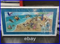 Hanna Barbera signed Characters Cel ENDLESS SUMMER Droopy, Scooby cell in 3D