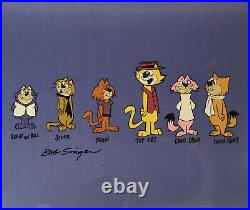 Hanna BarberaTop Cat 6 Character Hand Painted Model Cel Signed by Bob Singer