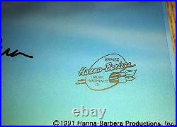 Hanna barbera cel signed pre production dastardly and mutely wacky races cell