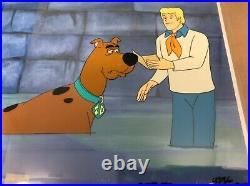 Scooby Doo Animation Production Cels- Hanna Barbera Scooby Doo and Fred -1970s