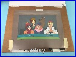 Scooby Doo and The Gang in Mystery Machine 5 Cels Hanna Barbera 1970s