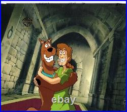 Scooby Doo n Shaggy Production Animation Cel and Drawing Hanna Barbera 1998 8320
