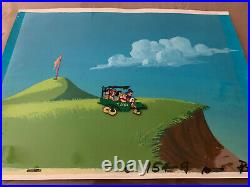 The Man Called Flintstone Production Cel and Master Backgd Hanna Barbera, 1966